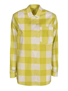 massimo alba - Checked shirt in acid green color