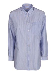 massimo alba - Striped shirt in light blue and white