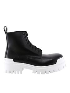 Balenciaga - Strike combat boots in black
