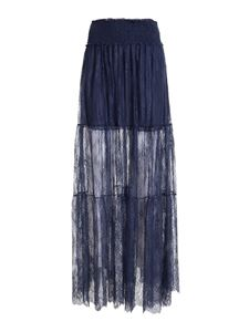 Ermanno by Ermanno Scervino - Lace skirt in blue