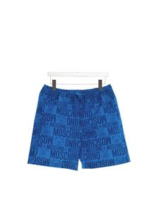 Moschino Kids - Toy logo swim trunks in blue