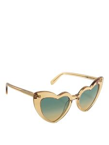 Saint Laurent - Loulou brown heart-shaped sunglasses