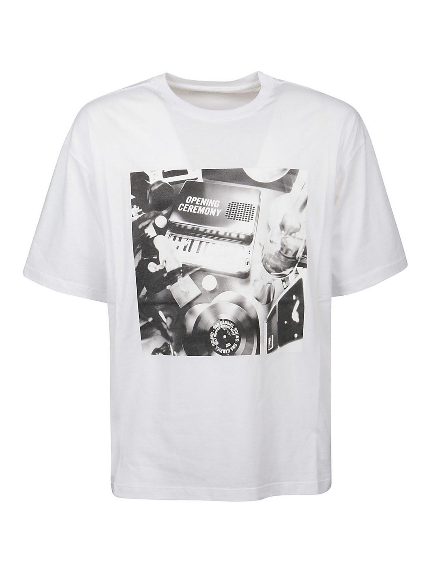 Opening Ceremony Clothing OPENING CEREMONY PIANOPRINT T-SHIRT IN WHITE
