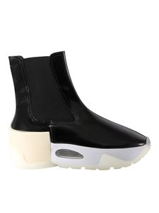 MM6 Maison Margiela - Patent effect ankle boots in black
