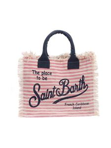 MC2 Saint Barth - Vanity striped bag in pink and white