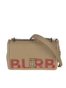 Burberry - Small Lola bag in honey and red color