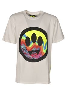 Barrow - Multicolor front logo T-shirt in white