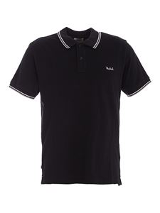 Woolrich - Embroidered logo cotton polo in blue