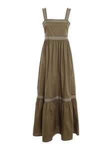 TWINSET - Studded long dress in green