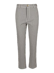 Philosophy di Lorenzo Serafini - Striped pants in cream color