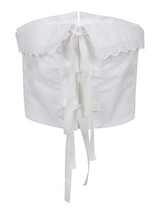 Philosophy di Lorenzo Serafini - Broderie anglaise strapless top in white