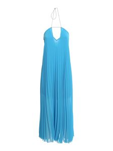 Patrizia Pepe - Pleated long dress in light blue