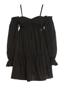 Patrizia Pepe - Off-the-shoulder cotton blouse in black