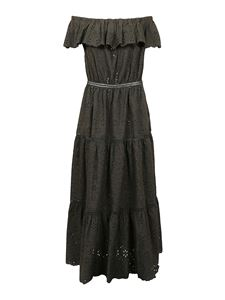 Parosh - Broderie anglaise dress in green