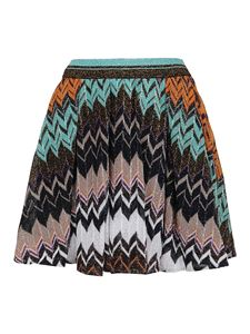 Missoni - Gonna plissettata in Chevron multicolor