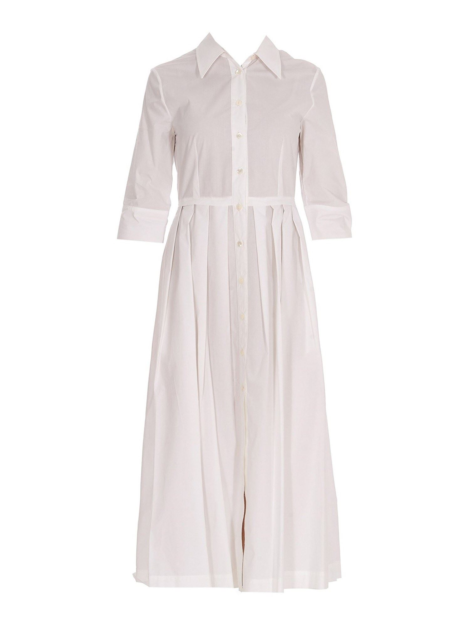 Jucca COTTON SHIRT DRESS IN WHITE