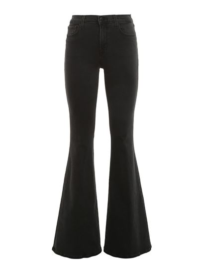 J Brand - High waisted flared jeans in black