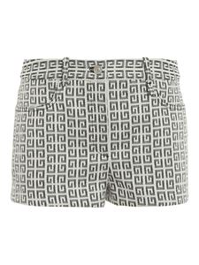 Givenchy - Jacquard fabric shorts in white