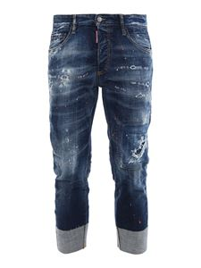 Dsquared2 - Sailor print-spoiled jeans with rips