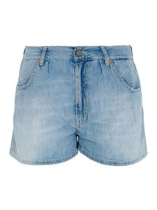 Dondup - Faded denim shorts in light blue