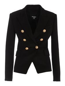 Balmain - Double breasted blazer in black