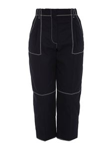 Alexander McQueen - Contrasting stitching pants in blue