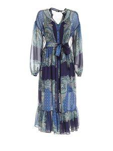TWINSET - Paisley print dress in blue