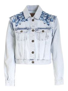 Twin-Set - Floral embroidery jacket in light blue