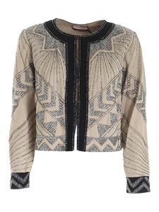 Twin-Set - Beaded jacket in beige
