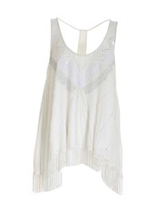 TWINSET - Beads top in white