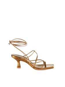 Vic Matiè - Ankle tied sandals in bronze color