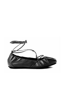 Vic Matiè - Ankle tied ballet flats in black