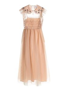 Vivetta - Jewel embroidery tulle dress in nude color