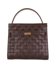 Tory Burch - Double Lee Radziwill bag in Cold Brew color