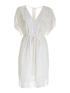 Twin-Set - Beads and sequins dress in white