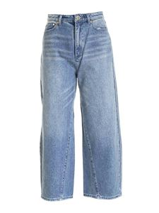 Michael Kors - Palazzo jeans in faded blue
