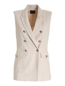 Pinko - Ubriaco sleeveless jacket in beige