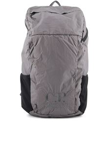 CP Company - Logo embroidery nylon backpack in grey