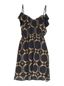 Gaelle Paris - Short tiger print dress in black