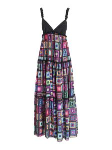 Gaelle Paris - Crochet print dress in multicolor