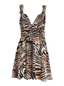 Gaelle Paris - Animal print V-neck dress