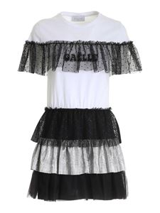 Gaelle Paris - Crewneck dress in black and white