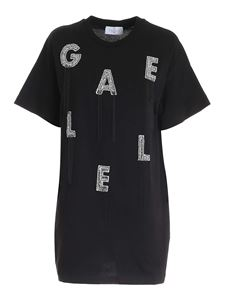 Gaelle Paris - Rhinestones short dress in black