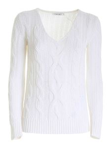 Max Mara - Knitted sweater in white