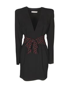 Philosophy di Lorenzo Serafini - Polka dot bow dress in black