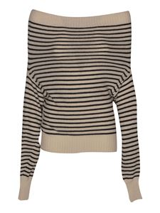 Philosophy di Lorenzo Serafini - Striped sweater in beige and black