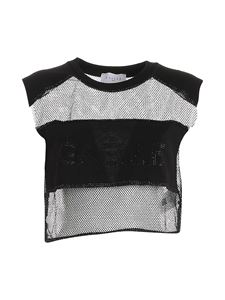 Gaelle Paris - Semi-transparent T-shirt in black