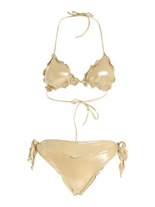 Gaelle Paris - Bikini a triangolo color oro