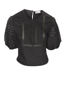 Red Valentino - Drilled details blouse in black