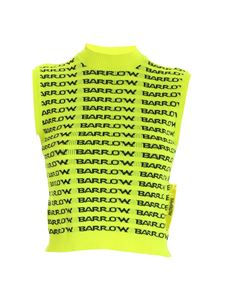 Barrow - All over logo embroidery top in yellow